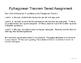 Tiered Pythagorean Theorem Assignment