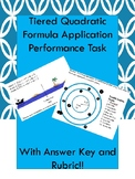 Tiered Quadratic Formula Application Tasks