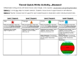 Biomes. Tiered Quick-Write Activity.