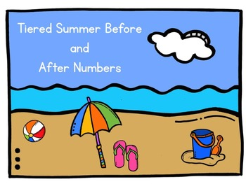Tiered Summer Before and After numbers