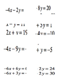 Tiered System of Equations Elimination Activity