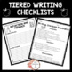 Tiered Writing Checklists