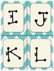 Tiffany Blue Chevron Letters