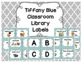 Tiffany Blue Library Bin Labels