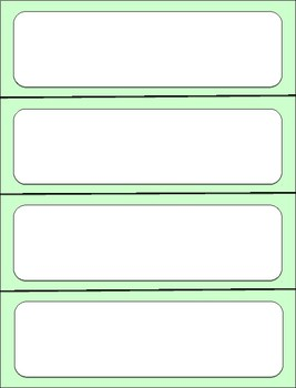 Minty Green Word Wall Template