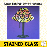Tiffany Lamp Art Lesson. Stained Glass Lesson Plan. Louis