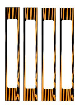 Tiger 1'' Binder Spine