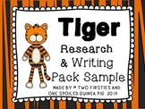 Tiger Animal KWL Research And Informational Writing Pack S