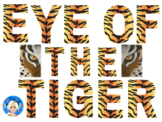Tiger Animal Print Letters and Numbers Font Clip Art