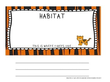 Tiger Animal Research And Informational Writing Report Pack {Common Core}