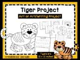 Tiger Art & Writing Project - Zoo Art Project - Zoo Bulletin Board