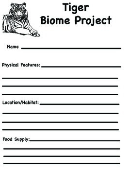 Tiger Biome Project