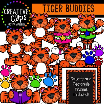 Tiger Buddies {Creative Clips Digital Clipart}