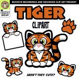 Tiger Clip Art {Squishies Clipart}
