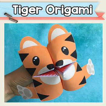 Tiger Cootie Catcher - Fortune Teller Craft