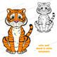 Tiger Craft Activity | Paper Bag Puppet Template