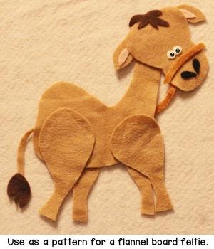 Camel Craftivity Template