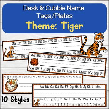 Tiger Desk / Name / Cubbie Tags