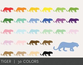 Tiger Digital Clipart, Tiger Graphics, Tiger PNG, Rainbow Tiger Digital Files