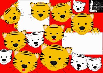 Tiger Emotions Clipart