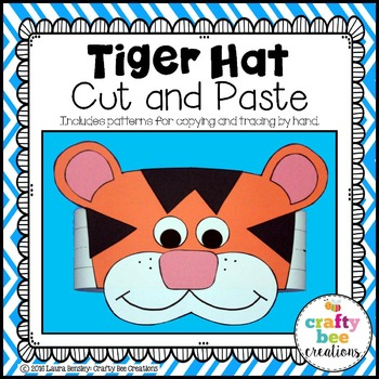 Tiger Hat Cut and Paste