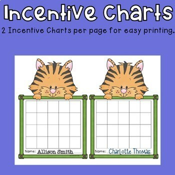 Incentive Charts with a Tiger Theme