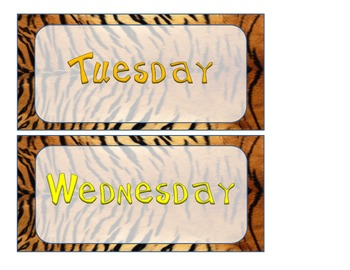 Tiger-Jungle-Safari Calendar Set