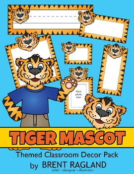 Tiger Mascot Themed Classroom Decor Pack