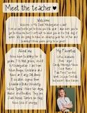 Tiger Meet The Teacher Template **Editable**