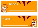 Tiger Name Tag Collection