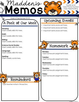 Tiger Newsletter Template