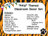 "Tiger ""PAW"" Classroom Decor Set"