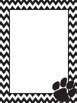 Tiger Paw Chevron Paper (editable)