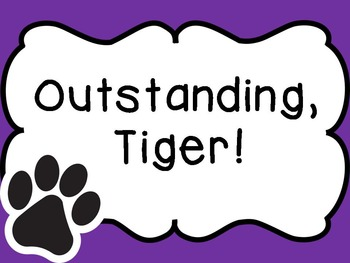 Tiger Paw Decor for Customer