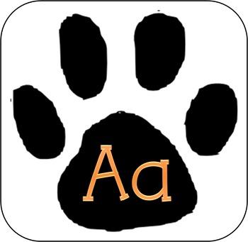 Tiger Paw Wall Alphabet - Cursive and Print