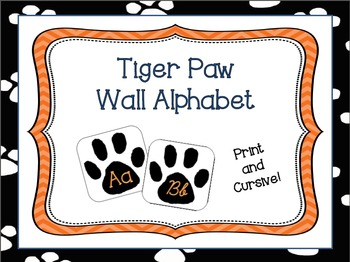 Tiger Paw Wall Alphabet - Cursive and Print