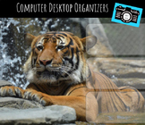 Computer Desktop Organizer and Wallpaper Set - Tiger Mascot - Tiger Theme