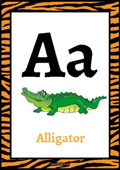 Classroom Decor-Tiger Print Alphabet Poster