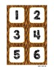 Classroom Decor Tiger Print Calendar Set