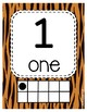 #roomdecor Tiger Print Classroom Number Posters with Number Words & Ten Frames