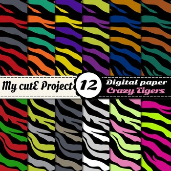 Tiger Prints DIGITAL PAPERS - Safari scrapbooking