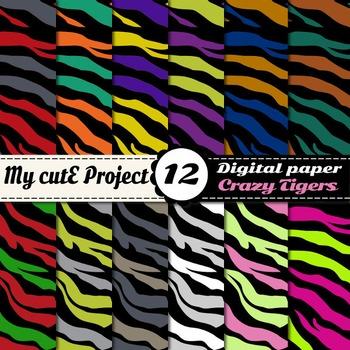 Tiger Prints DIGITAL PAPERS - Safari scrapbooking
