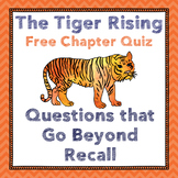 Tiger Rising Chapter One Quiz--Vocabulary, Inference, Summary Assessment