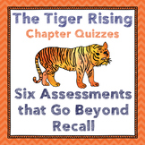 Tiger Rising Chapter Quizzes-Figurative language, Inference Assessments