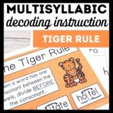 Tiger Rule Book 3-Advanced Multisyllabic Decoding Strategies