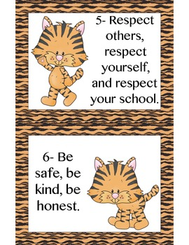 Tiger Rule Cards