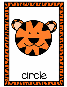 Tiger Shape Posters