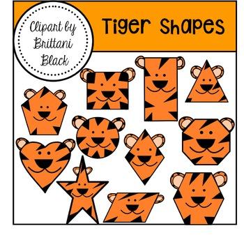Tiger Shapes Clipart
