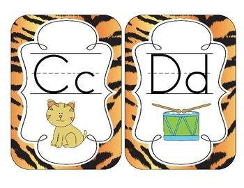 Tiger Stripes Alphabet Cards