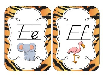 Tiger Stripes Alphabet Cards: D'Nealian Version